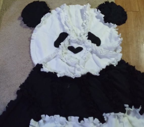 Panda Rag Throw