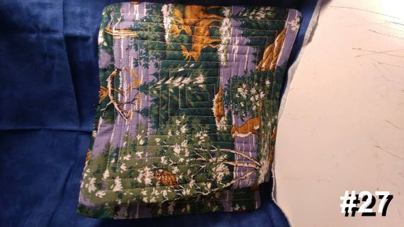CHARITY (Purple with woodland animals HOT PAD set of 2 #27)