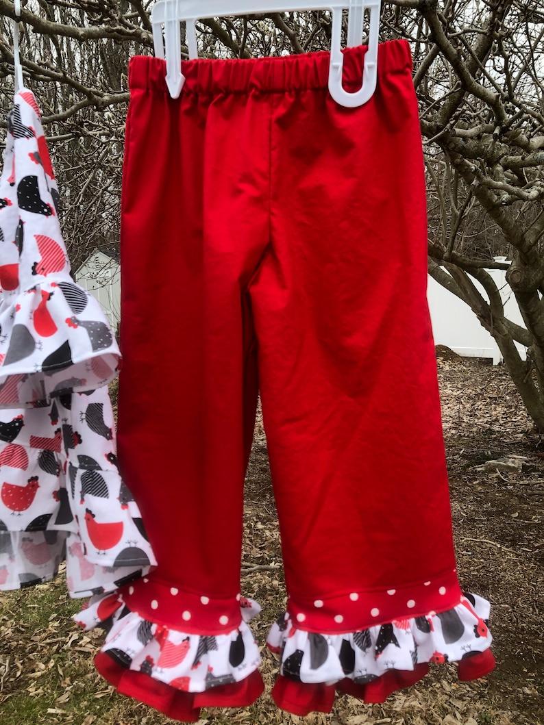 Girls Size 4T ruffles shirt and pants set