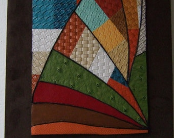 Arc original mixed media collage wall art