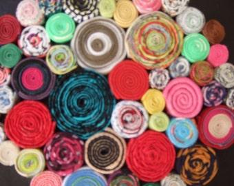 Spiral Bouquet original wall hanging