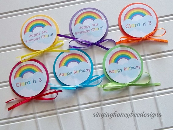 Personalized Rainbow Cake Toppers, Rainbow Toppers, Rainbow Birthday Party, Rainbow  Baby Shower, Rainbow Baby Party, Rainbow 1st Birthday From ...