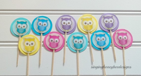 Cool Owl Cake Toppers Adorable Owl Toppers Owl Birthday Party Owl Personalised Birthday Cards Sponlily Jamesorg