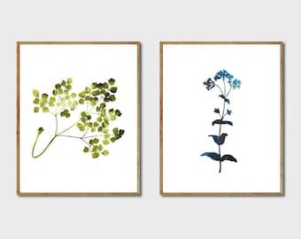 Floral Print Set - Watercolor Flowers, Botanical Artwork, Watercolor Prints, Botanical Poster, Set of 2 Prints, Nature Wall Art