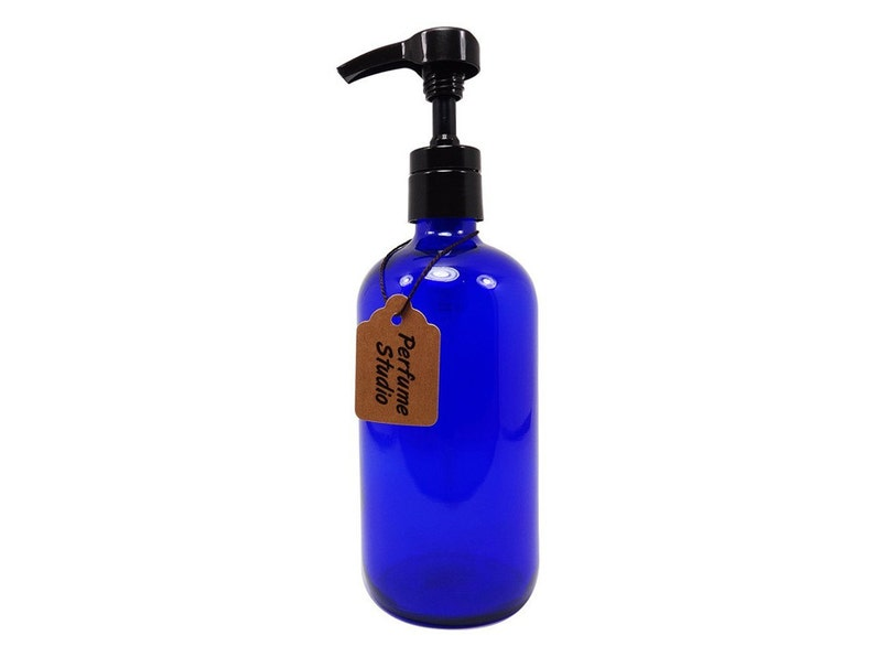 556fe4da72f1 Professional Grade 8oz Blue Cobalt Glass Boston Round Bottle with Top  Quality Dispensing Pump - Perfect for Lotions, Soaps, Massage, Oils...
