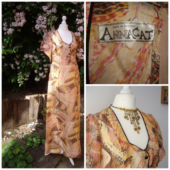 Rare Annacat psychedelic maxi dress Biba of Brompt