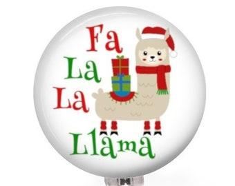 elf christmas retractable name badge holder badge reel elf etsy