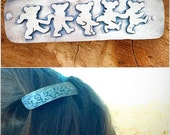 Dancing bear sterling silver barrette, made to order