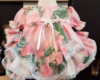 ec497706f Frilly Baby Pink Gingham Dress Ruffle Bum Panty Frilly