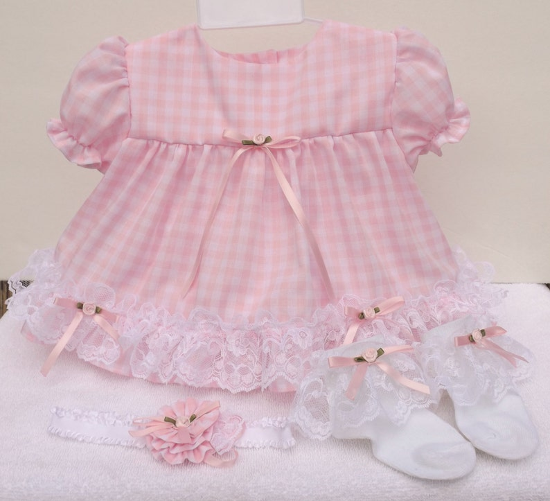 e790bc657 Frilly Baby Pink Gingham Dress