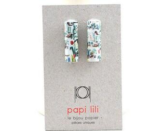 BO Aglaë Clou Doré rectangle Papier Motif Floral Coloré Graphique Dessin Aquarelle