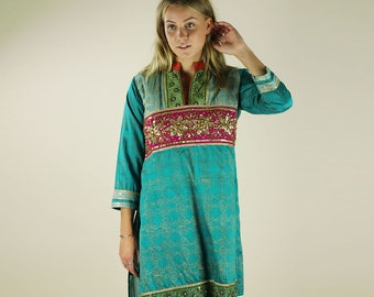 Vintage Ethnic Indian Sequin Embroidery Tunic