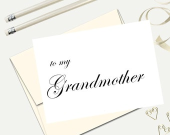 To My Grandmother Wedding Day Thank You Card To My Etsy