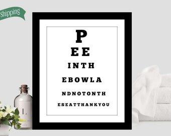 Funny Bathroom Art Etsy