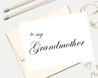To My Grandmother On My Wedding Day Wedding Thank You Cards Etsy