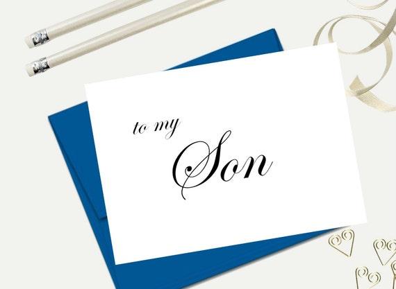 To My Son Wedding Day Card Birthday Card Bridal Party Etsy