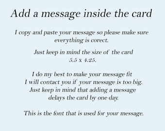 Add a message inside the card