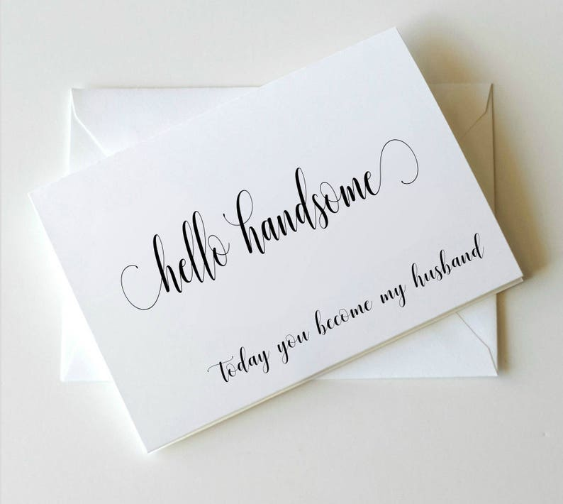 To my Groom on our wedding day Card To my Groom Card Wedding image 0