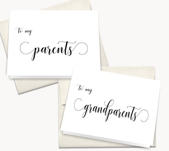 To My Parents On My Wedding Day Card To My Mother On My Etsy