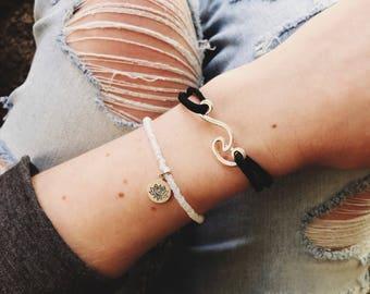 Vegan Suede Wave Wrap Bracelet
