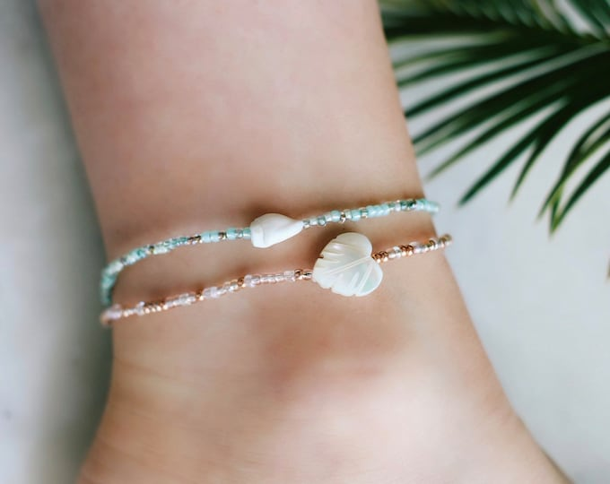 Sea Foam Sea Shell Anklet