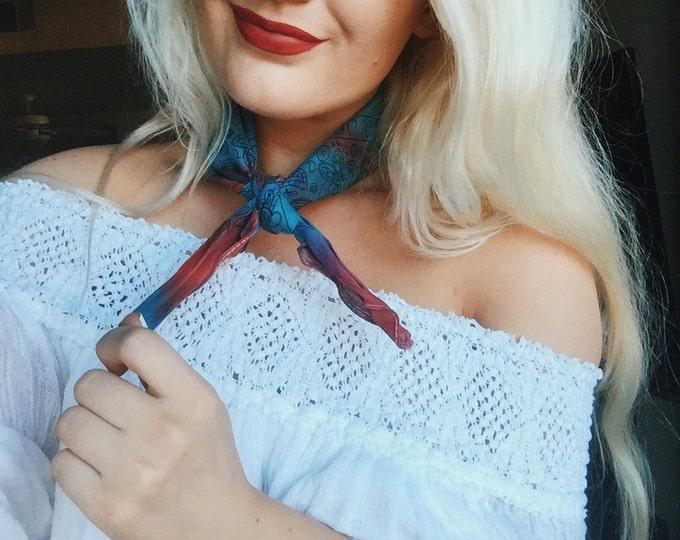 Red & Blue Tie Dye Bandana