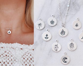 Choose your design dainty hand stamped choker necklace