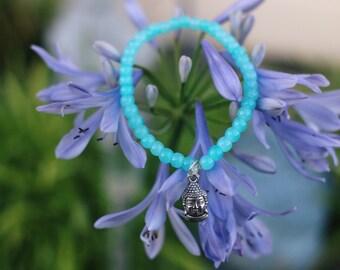 Little Buddah Blue Opal Beaded Bracelet
