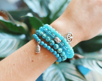 Mermaid Stone Stretch Bracelet