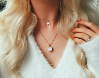 Opal Bezel Necklace