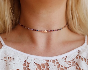 Star Girl Seed Beaded Choker Necklace