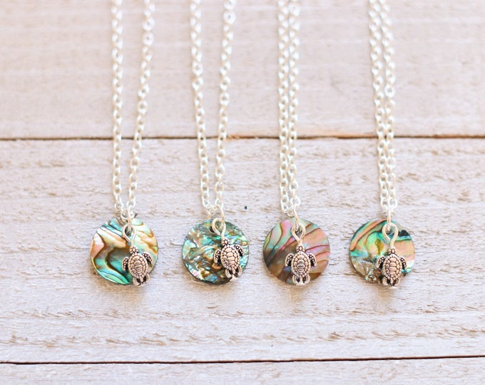 Abalone Sea Turtle Necklace