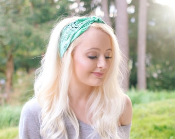 Mystic Mermaid Vibrant Tie Dye Bandana Head wrap