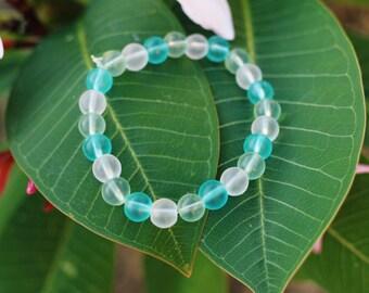 Mixed Sea Glass Beaded Bracelet