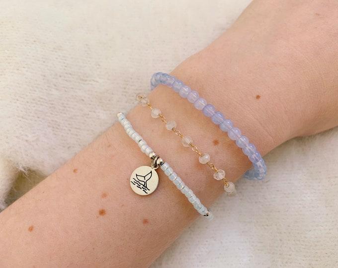 Moonstone Rosary Beaded Bracelet