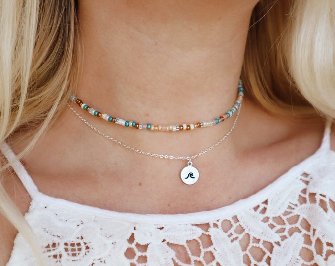 Summer Oasis Beaded Choker Necklace