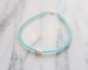 Oceanside Sea Glass Anklet
