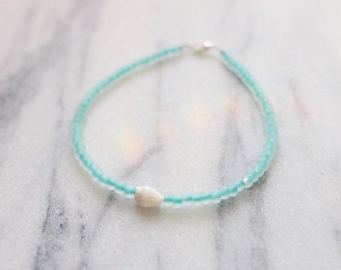 Oceanside Sea Glass Anklet