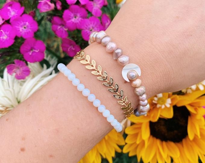 Golden Leaf Chain Bracelet