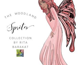 Rita Barakat  Sprites collection, Fairies, Die Cuts, Ephemera, Fairy, planners