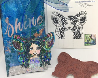 fairy stamp, Monica Fairy, card making, stationary, mixed media, stamps, paper crafting, scrapbooking