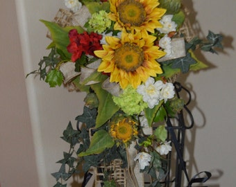 Wedding Swag, Arch Swag, Brides Chair Swag, Bridal Swag, Archway Swag, Wedding Arch Swag, Sunflower swag