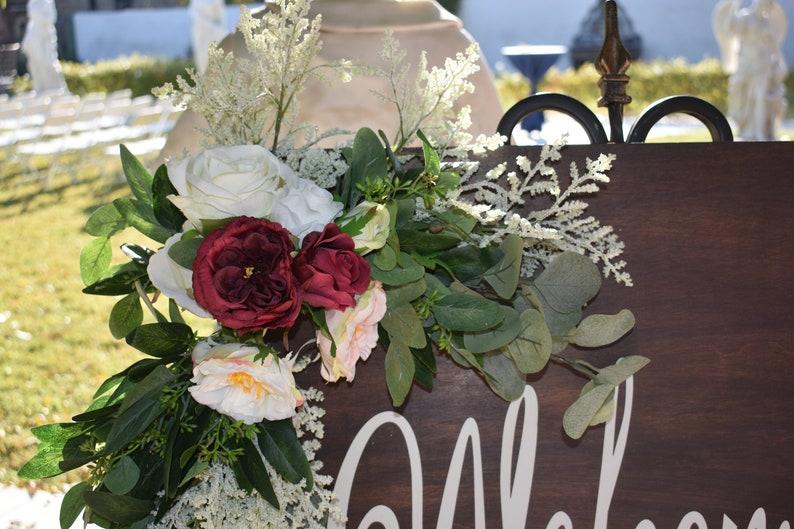 Wedding Arch Flowers Welcome Sign Wedding Arch Flowers Ready to Ship Wedding Arch Chuppah Flowers Wedding Sign