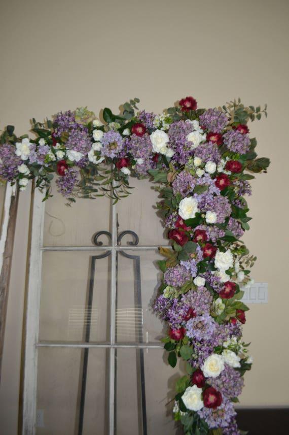 Floral arch wedding arch silk flower arch purple arch silk etsy image 0 mightylinksfo