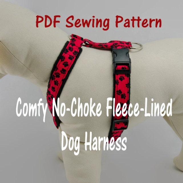 Dog Harness No Choke And Fleece Lined Pdf Sewing Pattern Etsy