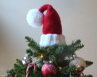 santa hat tree topper santa hat christmas tree topper knit santa hat secret santa gift