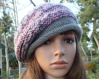 DIY - Knitting PATTERN  212  French beret knit slouchy pattern dd9775de689