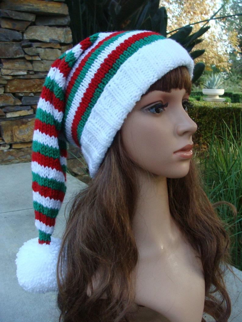 54364de71ec52 DIY Knitting PATTERN 62  Ho Ho Ho Red White and Green