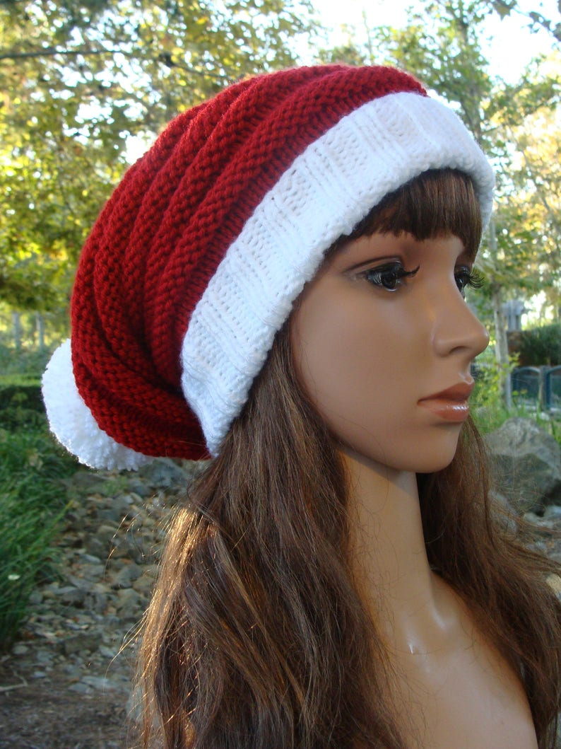 c0a4db18af2d7 Santa Beehive Slouchy with fold up brim and Pom-pom Best fits