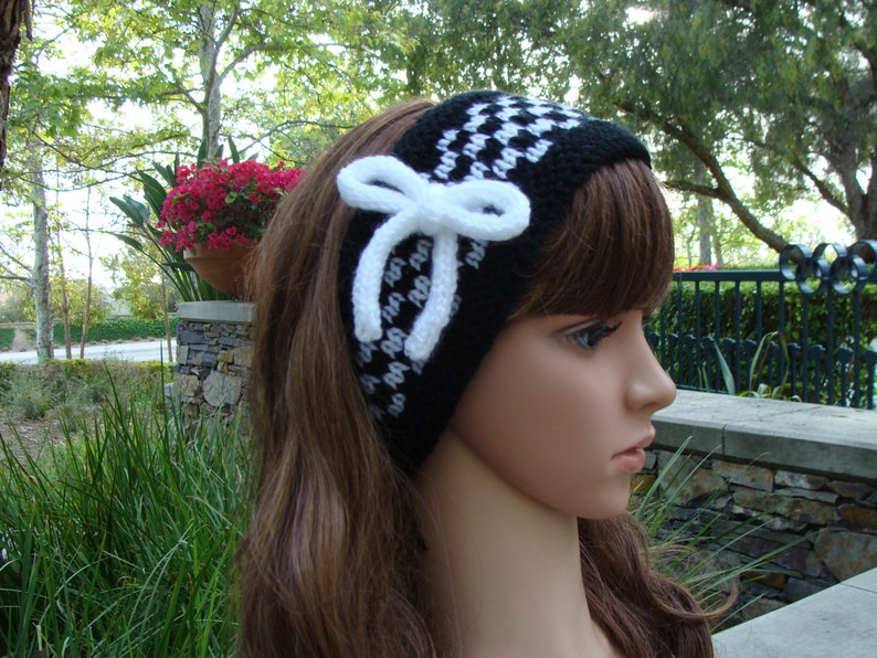 DIY Knitting PATTERN 114  Checkerboard Headband Pattern  5fe066e18c1